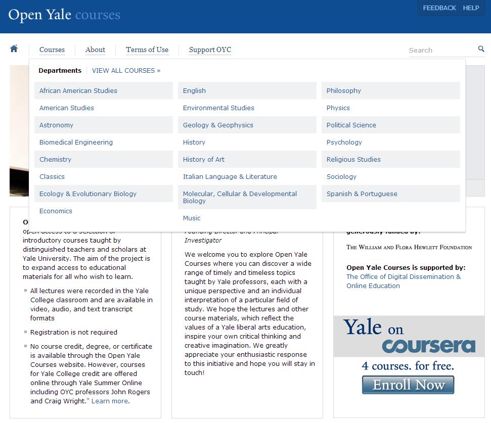 美國九大免費開放式課程網站介紹