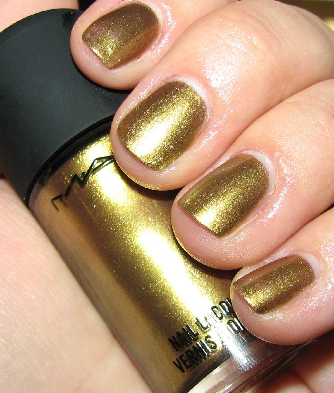 Mac Immortal Gold Nail Polish Swatches Review Posh
