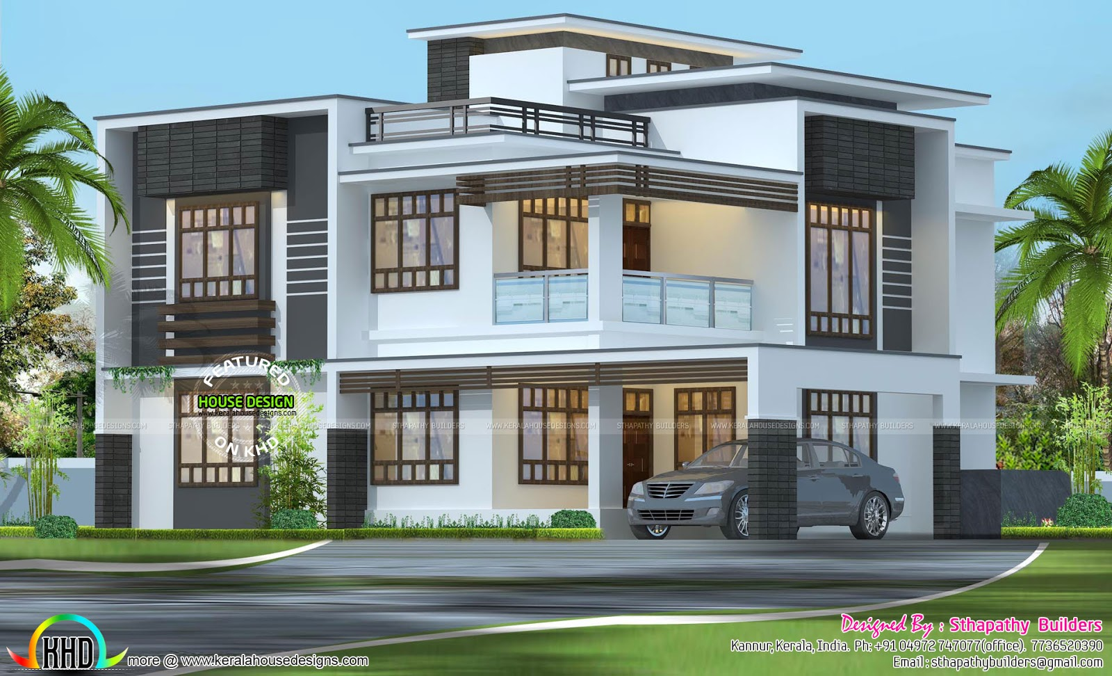 See floor plans read more please follow kerala home design - Design Style Flat Roof See Floor Plans And Facilities Of This House Read More Please Follow Kerala Home Design