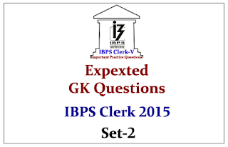 Race IBPS Clerk 2015- Expected GK Questions from Recent Schemes