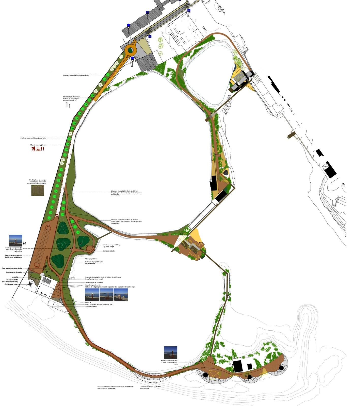 Plano da Praia Fluvial e Circuito da Alburrica