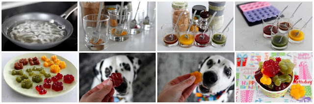 Step-by-step making multi-coloured gelatin gummies