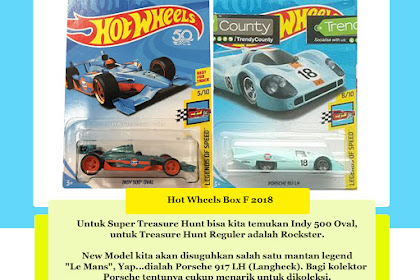 Bocoran Hot Wheels Box F 2018 (Legend Le Mans Beraksi)