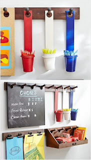 Hang Metal Cups for Pencil Storag
