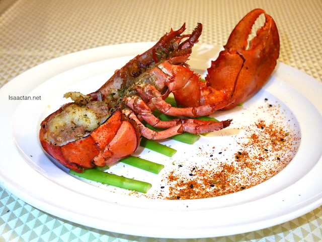 Baked Boston Lobster with Foie Gras and Herbs