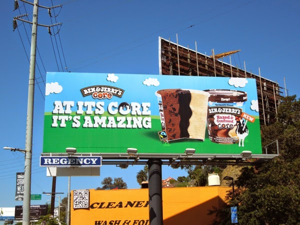 Ben Jerry's At its core it's amazing billboard