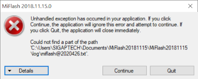 Cara Memperbaiki Unhandled Exception Has Occurred In Your Application Mi Flash