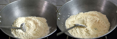 roasting wheat flour