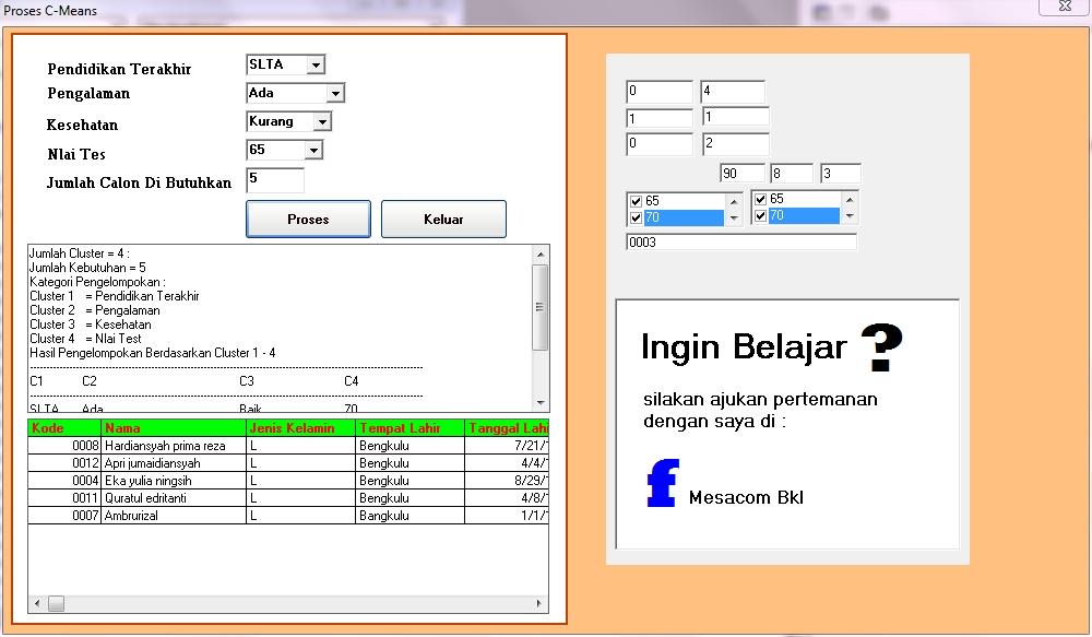 Source Code VB6 Penerapan Algoritma Fuzzy C-Means | Bengkel Komputer 22