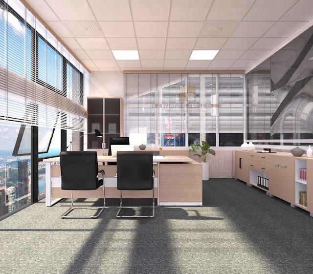 Bạn có thể lựa chọn màu sắc tủ tài liệu văn phòng tương đồng với bàn làm việc và các nội thất khác để tạo được một thể thống nhất