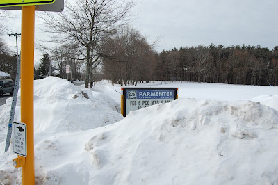 Parmenter sign buried in snow in 2015