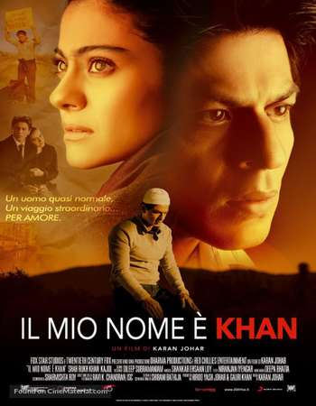 Poster Of My Name Is Khan 2010 Hindi 600MB BRRip 720p ESubs HEVC Watch Online Free Download downloadhub.net
