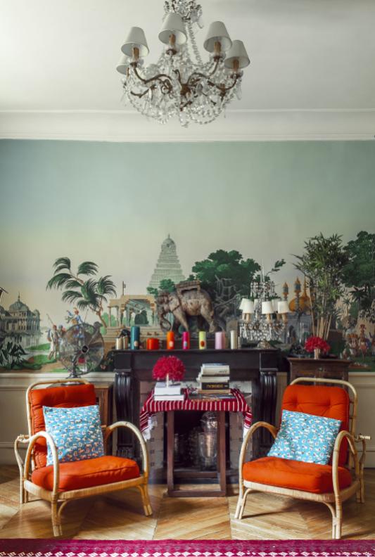 Interiors decoration at home with ines de la fressange - En la casa de ines ...