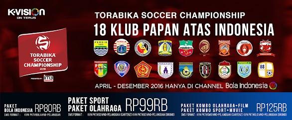 Paket K Vision Torabika Soccer Championship TSC 2016