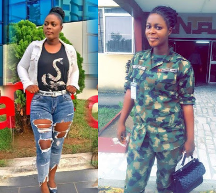 """I slay in my military uniform just the same way I slay in my civil wear"" - Sexy Nigerian female soldier boasts"
