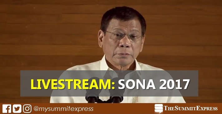 President Duterte SONA 2017 speech (video) livestream