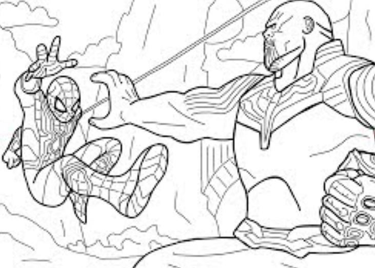 Gambar Mewarnai Avengers Marvel Infinity War  Gambar