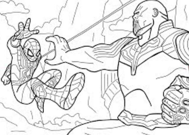 Gambar mewarnai avengers marvel infinity war gambar - Gambar thanos ...