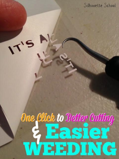 Cutting small HTV, HTV, heat transfer vinyl, Silhouette 101, Silhouette America Blog