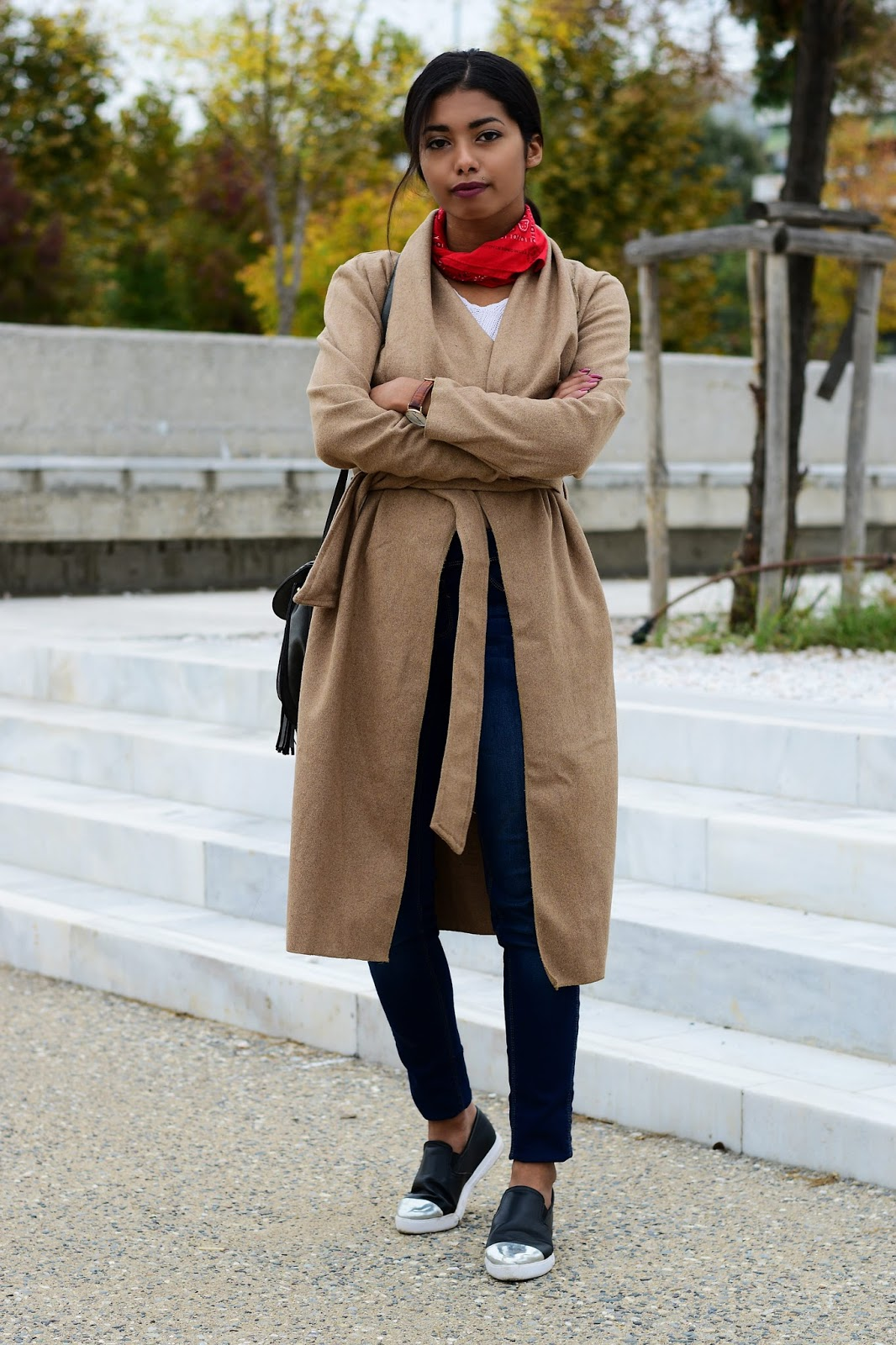 best way to wear a waterfall coat
