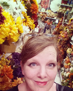 fall aisle at Michael's; my Halloween rag quilt post by refabulous