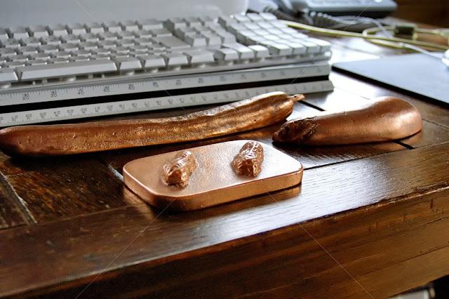 純銅鋳物の野菜 きゅうり なす 落花生