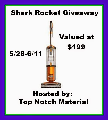 Enter to win the Shark Rocket Giveaway. Ends 6/11.