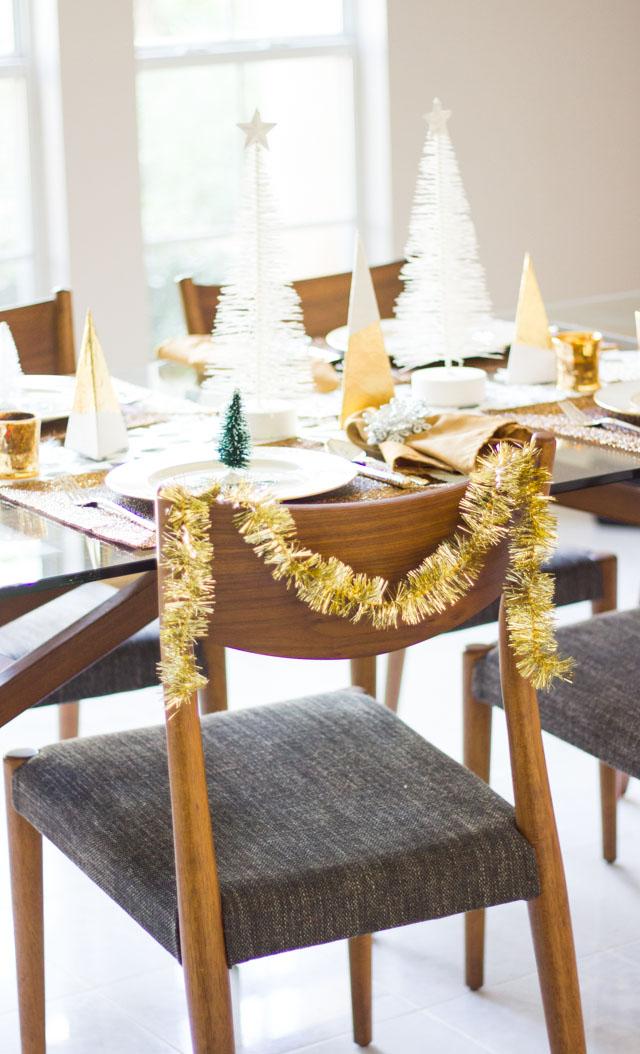 Winter Wonderland Christmas Table Setting Design Improvised