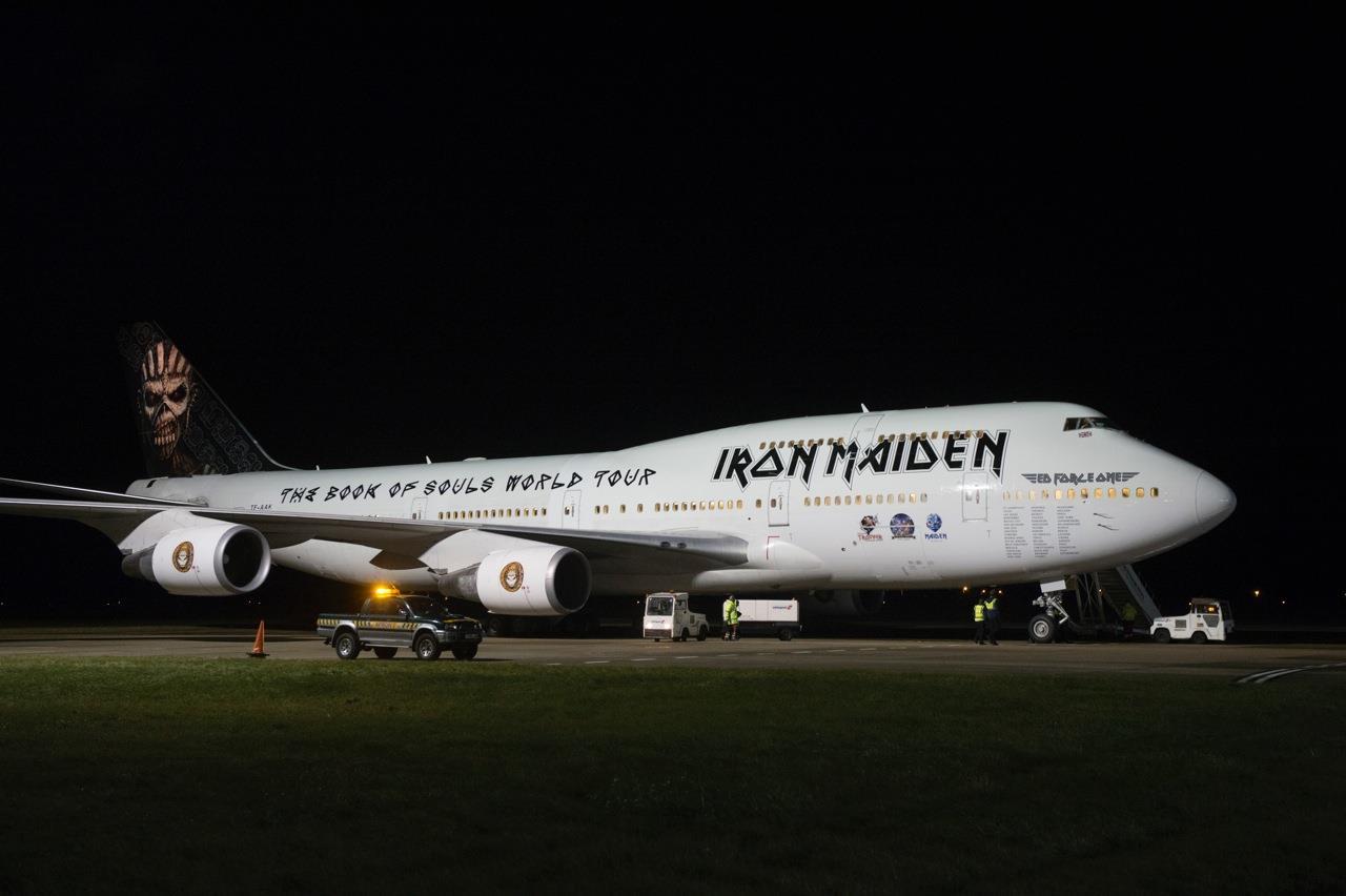 Boeing 747 ED Force One de Iron Maiden pousará em São Paulo nesta sexta (25)