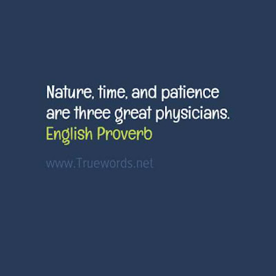 Nature, time, and patience are three great physicians