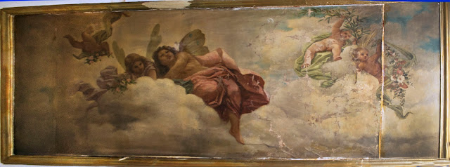 pintura mural sobre lienzo