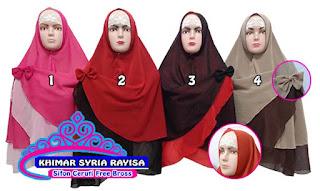khimar syria polos 2 warna murah tanpa pet