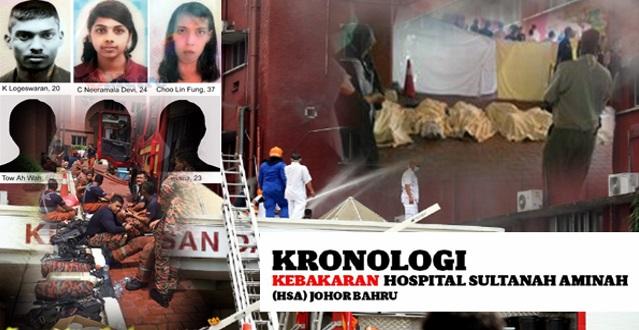Kronologi Kebakaran Hospital Sultanah Aminah (HSA) Johor Bahru