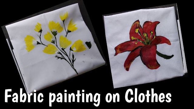 Fabric painting on clothes, flower painting on clothes, step by step tutorial, fabric painting for begginers, easy fabric painting tutorial, clothes painting, fabric painting on clothes