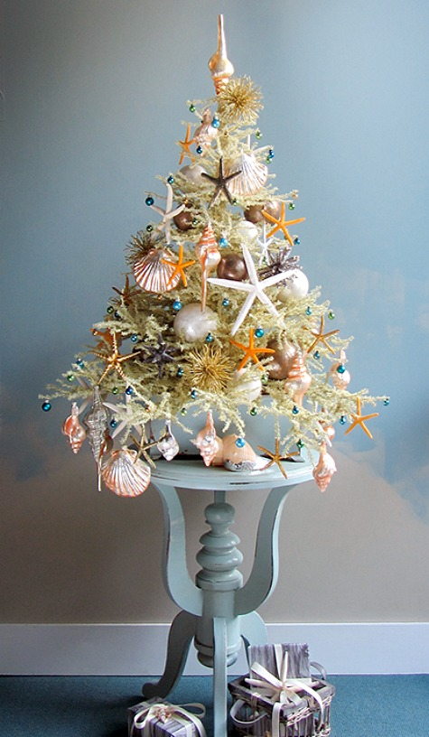 Coastal Beach Christmas Tree by Darryl Moland