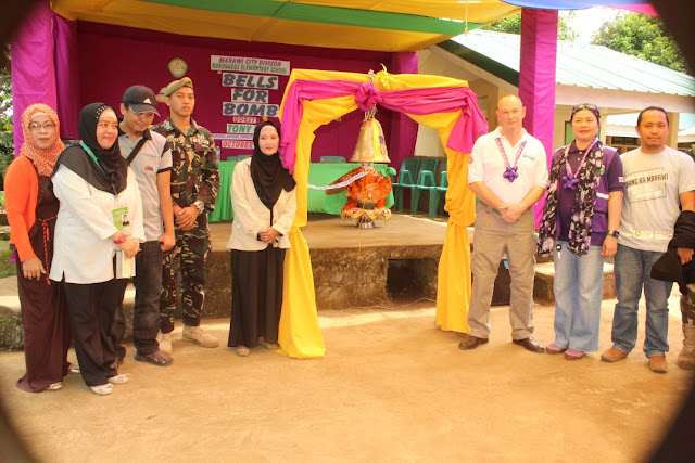 Marawi schools division turns over an old Japanese bomb shell to a Swiss foundation