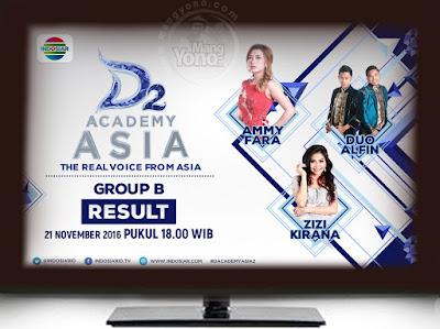 D'Academy Asia 2 ( D'AA 2) Babak 18 Besar Grup B