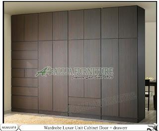 Lemari minimalis full plafon unit cabinet Luxor
