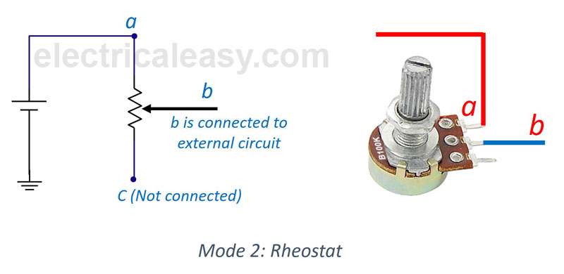 Difference between Potentiometer and Rheostat ... on