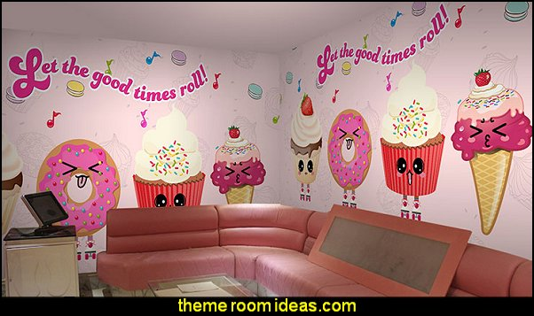 milk shop wallpaper bread cake wallpaper cartoon ice cream fruit coffee restaurant large mural wallpaper