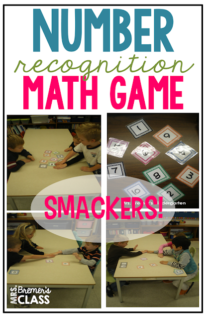Smackers! Number recognition math game for Kindergarten