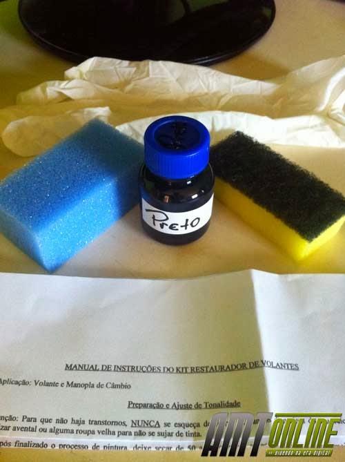 Foto dos itens que compõe o kit de recuperação. Os itens estão listados abaixo no texto.