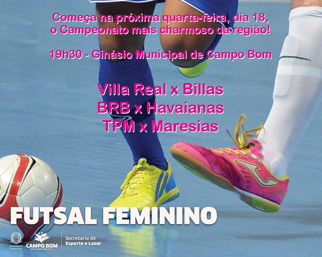 Notícias de Campo Bom  Municipal de Futsal Feminino inicia na ... e4cd37b7c26b5