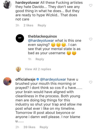 IMG 7462 - ENTERTAINMENT: Waje Fires Back At Davido Fan Who Chastised Her For Praising Wizkid's Feat