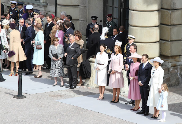 Crown Princess Victoria, Princess Estelle, Prince Oscar, Prince Daniel, Princess Sofia, Princess Madeleine of Sweden and Christopher O'Neill,