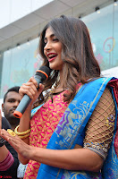Puja Hegde looks stunning in Red saree at launch of Anutex shopping mall ~ Celebrities Galleries 132.JPG