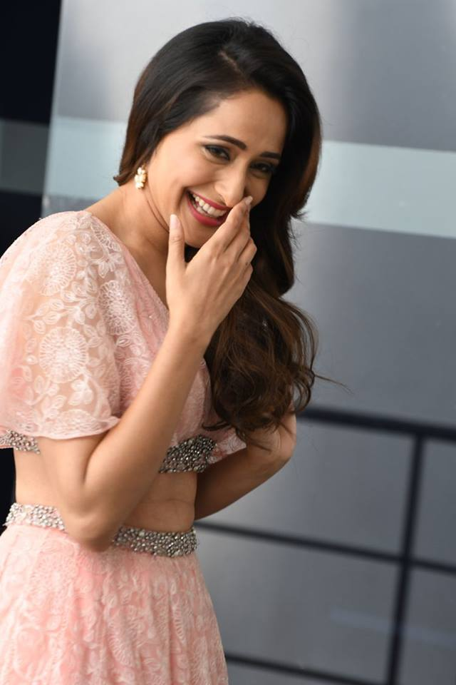 Pragya Jaiswal Pink Dress At Movie Promotion