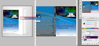 Cara Membuat Mockup Cover Buku di Photoshop, cara mendrag gambar di photoshop, cara memindahkan gambar satu ke gambar lain di photoshop