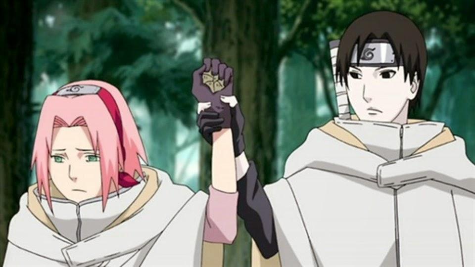 Sai detiene a Sakura