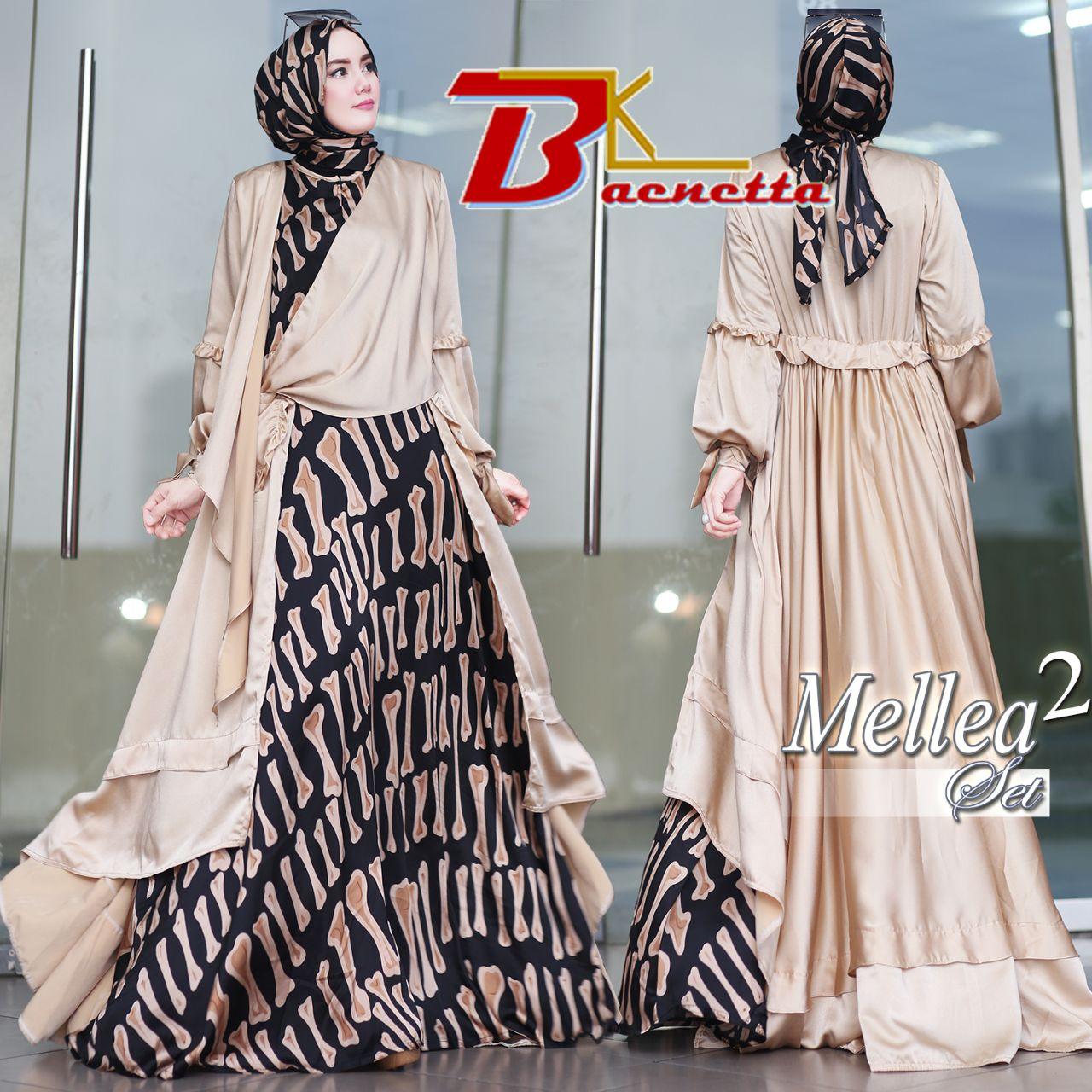 Mellea 2 Set By Baenetta Melody Fashion Busana Muslim Abaya Layla Phasmina